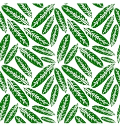 Seamless pattern with leaves imprints vector