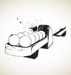 for bowling balls vector image