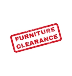 Furniture clearance text rubber stamp vector
