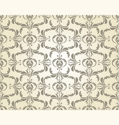 Seamless vintage floral pattern vector