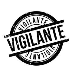vigilante rubber stamp vector image