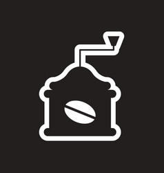 Stylish black and white icon coffee grinder vector