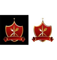 Restaurant shields vector image