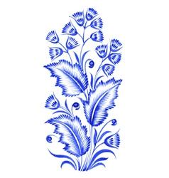 Blue flower composition vector