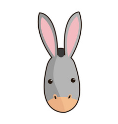 Donkey face manger animal cartoon image vector