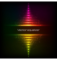 Rainbow colors vertical equalizer vector
