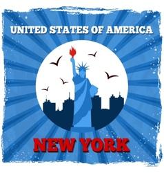 New york usa retro poster vector