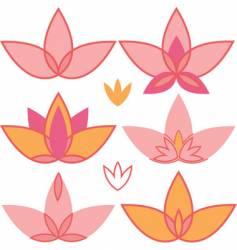 lotus design elements vector image