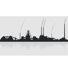 Mineral fertilizers plant over grey background vector