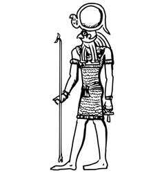 God of ancient egypt vector