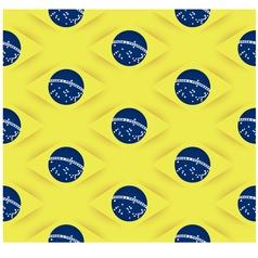 3D Seamless Brazil flag pattern vector image