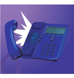 ringing telephone vector image