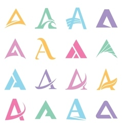 Alphabet symbols and elements of a letter vector