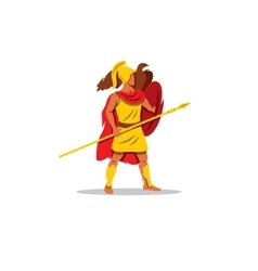 Ares sign the mythological greek god of light vector