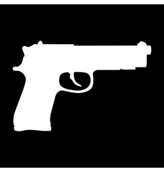 Gun isolated icon vector