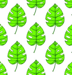 Engraved palm leaf vector image