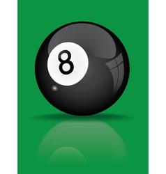 Black billiard ball vector