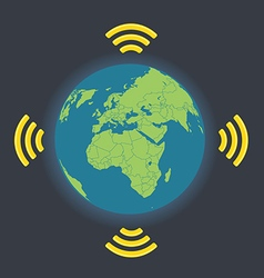 Global wireless connection vector image