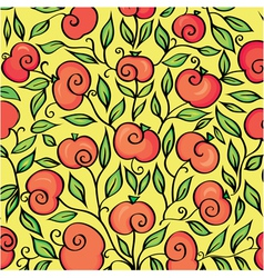 Background with branches of apple vector image