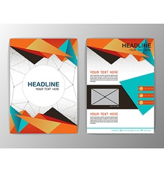 Abstract Orange Triangle design Brochure Flyer vector image vector image