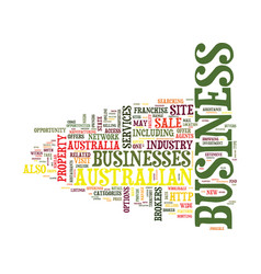 Australian business for sale text background word vector