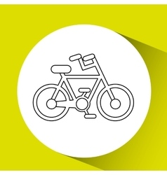 Bicycle seal design vector