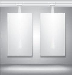Blank billboard canvas with lighting vector image