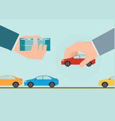 Buying new car conceptual vector