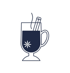 Christmas hot drink isolated icon vector