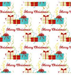christmas seamless pattern merry christmas and vector image