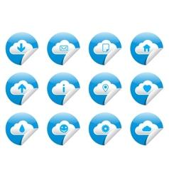 Cloud sticker symbols vector
