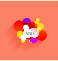 colorful bubbles with shadow vector image