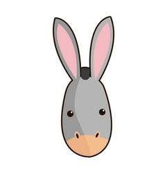 donkey face manger animal cartoon image vector image vector image