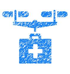 drug drone delivery grunge icon vector image vector image