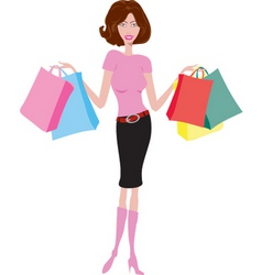 Female shopper vector