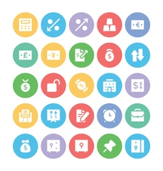 Finance colored icons 5 vector