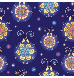Glowing fireflies seamless pattern background vector image