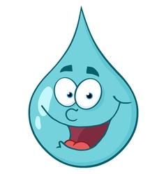Happy blue waterdrop vector