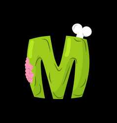 letter m zombie font monster alphabet bones and vector image vector image
