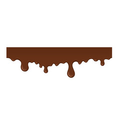 Melted chocolate drip vector