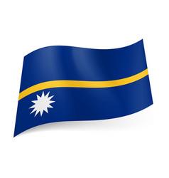 National flag of nauru narrow horizontal gold vector