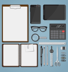 Office objects set vector