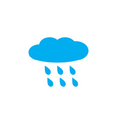 rain rainy on white background rainy sign vector image