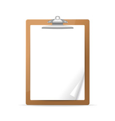 Realistic detailed 3d clipboard vector