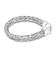 sketch of leather bracelet vector image