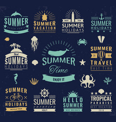 Summer labels logos tags and elements set for vector