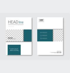 Template design brochure set annual report vector