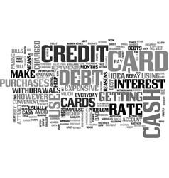 When not to use a credit card text word cloud vector