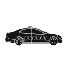 yellow taxi car in profiletransport taxi station vector image