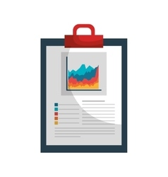 Clipboard with statistics isolated icon vector